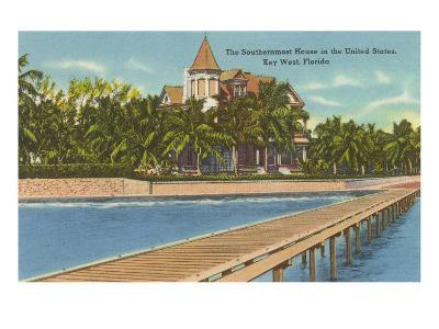 Southernmost House, Key West, Florida--Art Print