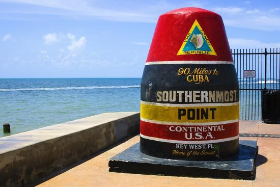 Southernmost Point in Continental USA in Key West,Florida-nito-Photographic Print