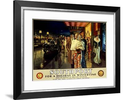 Southport, Evening-Fortunino Matania-Framed Giclee Print