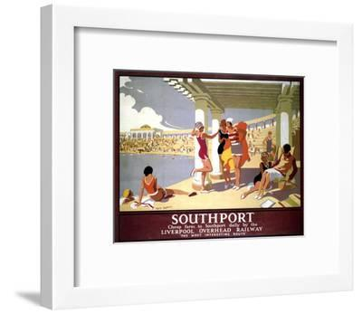 Southport Swimming Pool Ladies--Framed Art Print