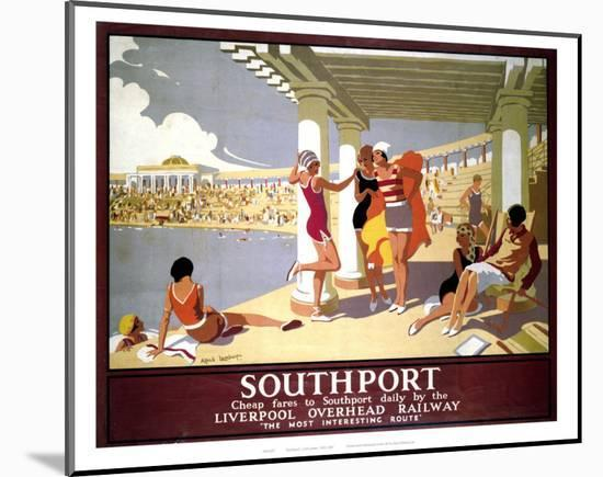 Southport Swimming Pool Ladies--Mounted Art Print