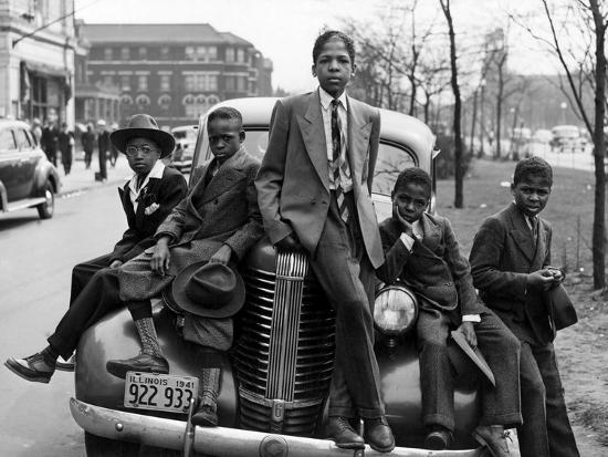 Southside Boys, Chicago, c.1941-Russell Lee-Photographic Print