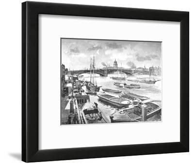 'Southwark Bridge', 1891-William Luker-Framed Giclee Print