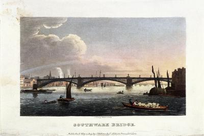 Southwark Bridge, London, 1819-J Shury-Giclee Print