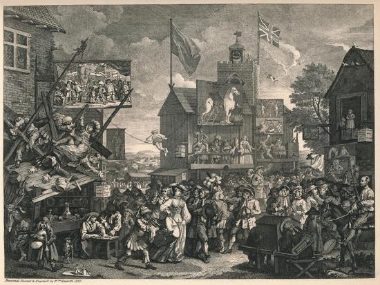 'Southwark Fair', 1733-William Hogarth-Giclee Print