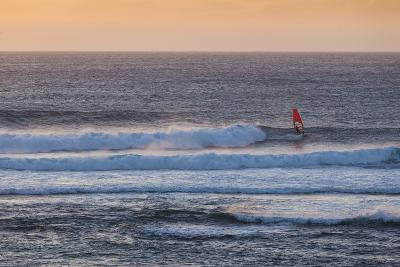 Southwest Australia, Prevelly, Surfers Point, Windsurfers, Dusk-Walter Bibikow-Photographic Print