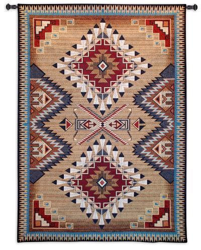 Southwest Sampler Cornflower and Red--Wall Tapestry