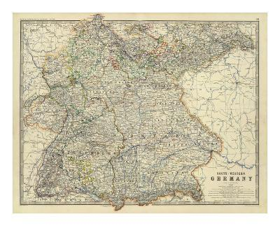 Southwestern Germany, c.1861-Alexander Keith Johnston-Art Print