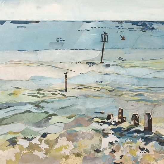 Southwold Sea View from Chris and Judy's Beach Hut-Christine McKechnie-Giclee Print