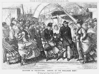 Souvenir De Folkestone (Arrival of the Boulogne Boa), 1873-Joseph Swain-Giclee Print