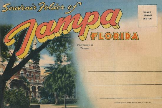 'Souvenir Folder of Tampa, Florida - University of Tampa', c1940s-Unknown-Giclee Print