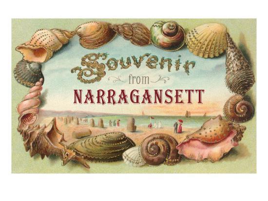 Souvenir from Narragansett, Rhode Island--Art Print
