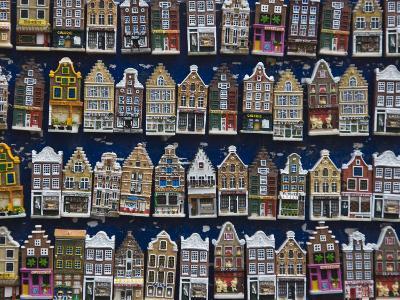 Souvenir House Shaped Refrigerator Magnets, Amsterdam, Netherlands, Europe-Amanda Hall-Photographic Print