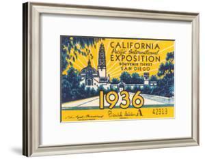 Souvenir Ticket, California Exposition, San Diego