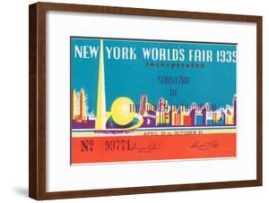 Souvenir Ticket to New York World's Fair, 1939