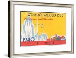 Souvenir Ticket to New York World's Fair, 1940