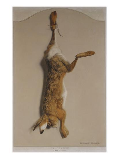 Souvenirs of the Hunt:The Hare; Souvenirs De Chasses: Le Lievre-Edouard Travies-Giclee Print