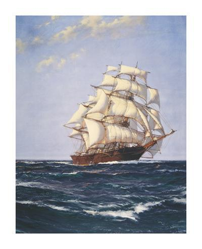 Sovereign of the Seas-Montague Dawson-Premium Giclee Print