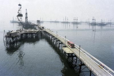 Soviet Caspian Sea Oil Fields, 1978-Ria Novosti-Photographic Print