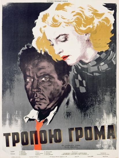 Soviet Film Poster, C.1956--Giclee Print