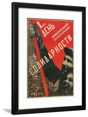 Soviet International Proletariat Solidarity Poster--Framed Giclee Print