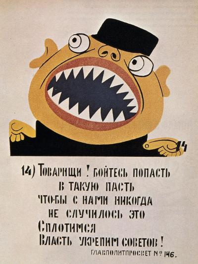 Soviet Political Poster, 1921--Giclee Print