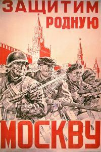 Soviet Poster Exhorting the Defence of Moscow by All its Citizens, 1940S