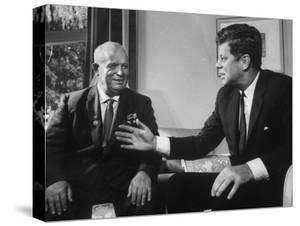 Soviet Premier Nikita S. Krushchev Meeting with Us Pres. John F. Kennedy