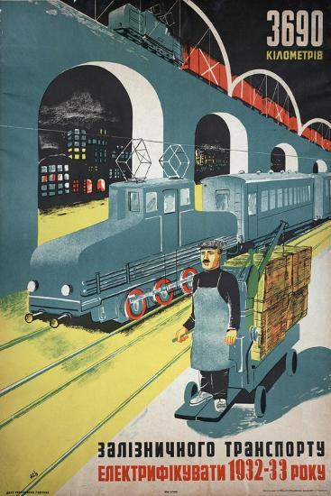 Soviet Propaganda Poster--Giclee Print
