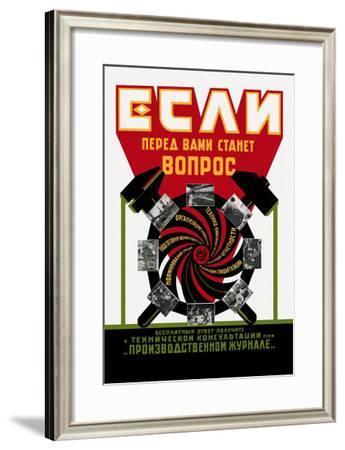 Soviet Technical Magazine--Framed Art Print
