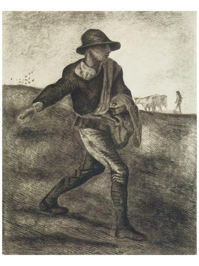 Sower (after Millet)-Vincent van Gogh-Premium Giclee Print