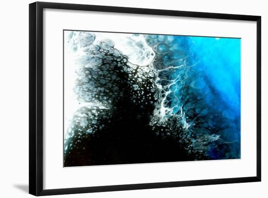 Space Abstract Background. Acrylic Paints. Marble Texture. Contemporary Art.-Ksenia Zu-Framed Photographic Print