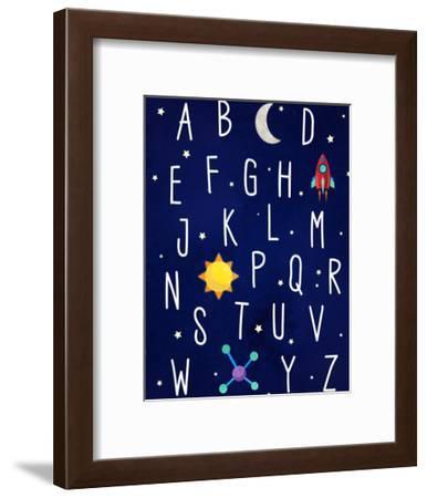 Space Alphabet-Elena David-Framed Art Print