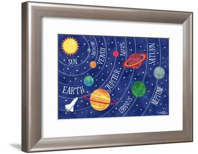 Space and Planets-Elizabeth Caldwell-Framed Giclee Print