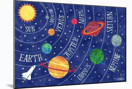 Space and Planets-Elizabeth Caldwell-Mounted Giclee Print