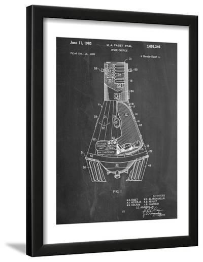 Space Capsule, Space Shuttle Patent--Framed Art Print