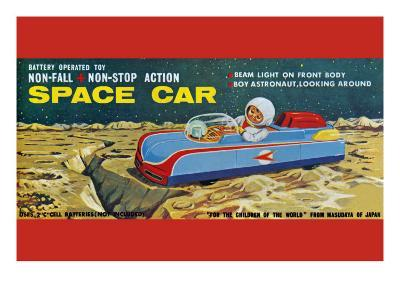 Space Car--Art Print