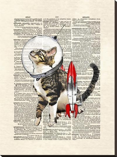 Space Cat-Matt Dinniman-Stretched Canvas Print