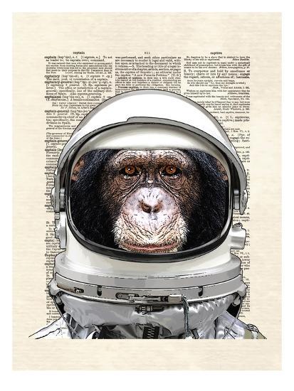 Space Chimp-Matt Dinniman-Art Print