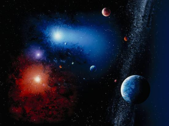 Space Illustration Titled Novae Stella-Ron Russell-Photographic Print