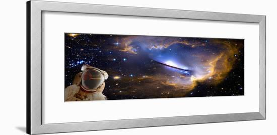 Space Man with Reflection--Framed Photographic Print