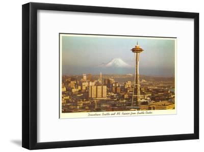 Space Needle, Mt. Rainier, Seattle, Washington