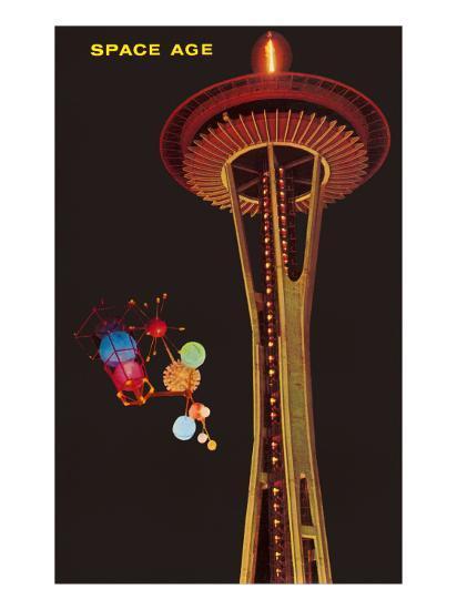 Space Needle, Seattle, Washington--Art Print