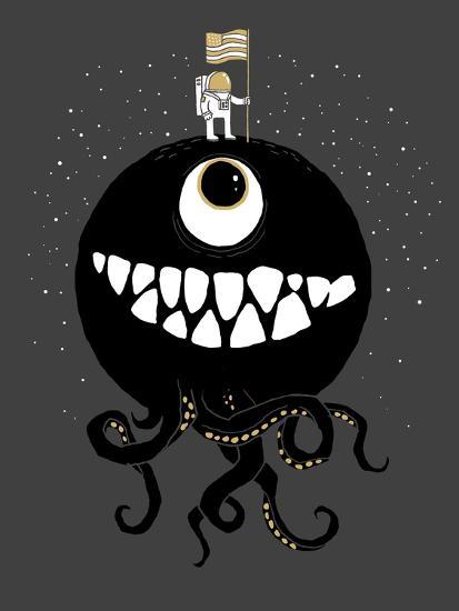 Space Oddity-Michael Buxton-Premium Giclee Print