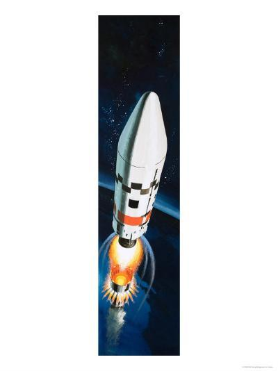 Space Rocket-Wilf Hardy-Giclee Print