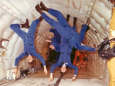 Space Shuttle Astronauts in Zero Gravity Training--Photo