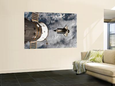 Space Shuttle Atlantis After It Undocked from the International Space Station on June 19, 2007--Wall Mural