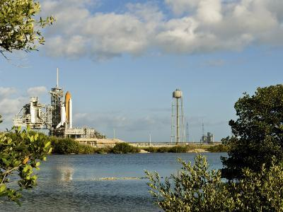 Space Shuttle Atlantis and Endeavour Sit on their Launch Pads at Kennedy Space Center--Photographic Print