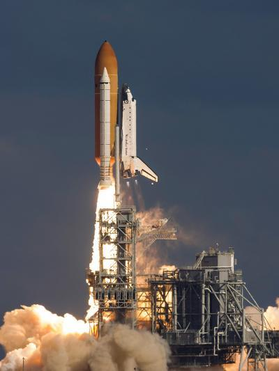 Space Shuttle Atlantis Clears the Tower at the Kennedy Space Center, Florida--Photographic Print