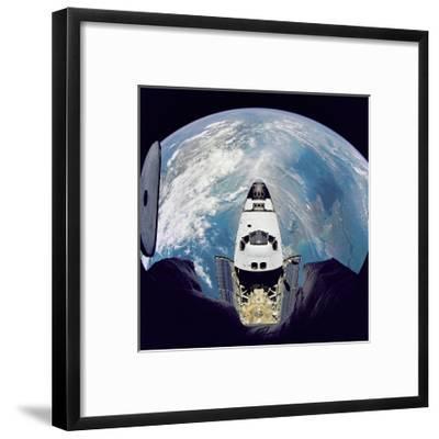 Space Shuttle Atlantis from Orbital Station Mir, June 29, 1995--Framed Art Print